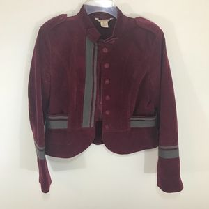 Sundance Burgundy Red Military Jacket Blazer